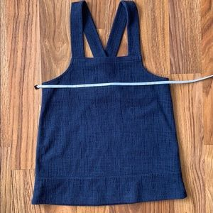 Madewell navy textured knit apron tank size XS